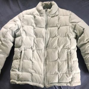Gap light blue medium down puffer coat GUC
